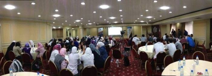 Day two of the workshop, looking engaging 'Misconceptions of Islam', 'Arab Finance hall' in Beirut