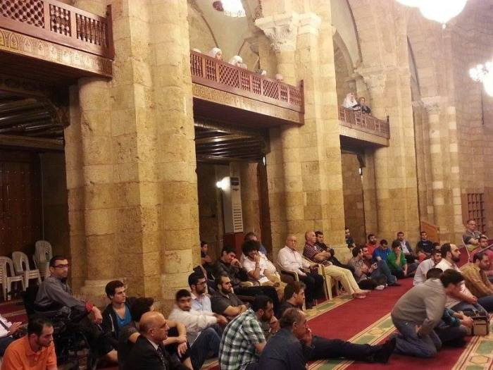 The Omari Mosque in Beirut, where I presented the topic 'The Purpose Life'