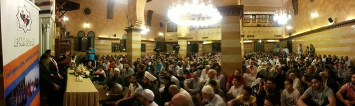 Rawda mosque, in Saida (Sidon) Lebanon. The lecture was titled: 'My Journey to Islam'
