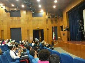Lecture at the American University of Beirut (AUB), on the 'Evidence for God'