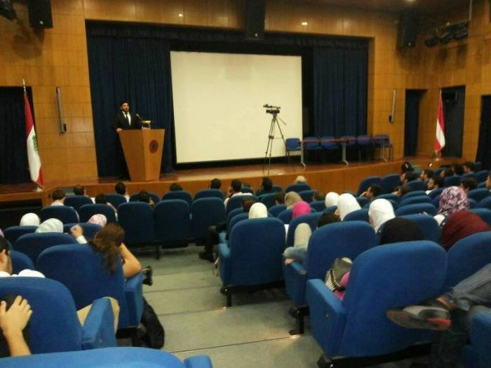 Lecture at the American University of Beirut, on 'The Evidence for God'