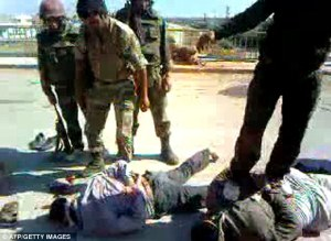 Secular Syrian Army soldiers brutalize pro-Islam rebels in Syria
