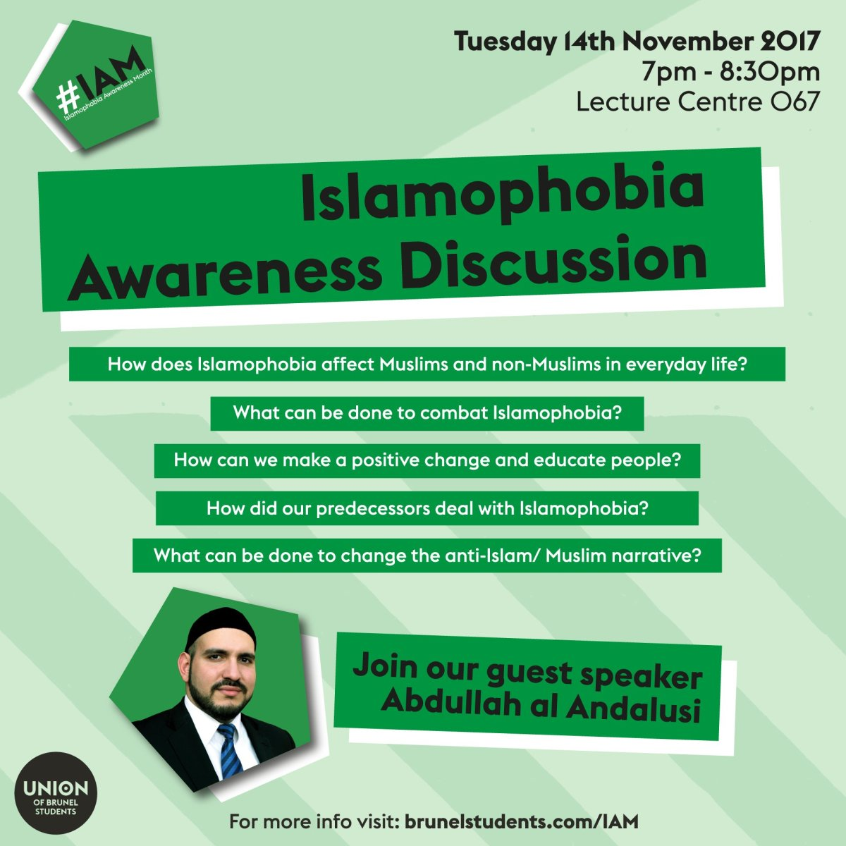Upcoming Lecture Event: Islamophobia - A Detailed Discussion